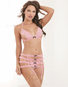 Red Diamond Tickled Pink Open Cup Bra, Garter Skirt, & Thong Set