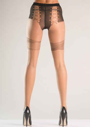 Ribbon Design Pantyhose