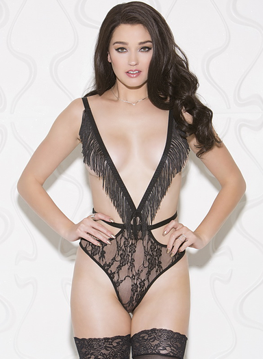 Risky Business Black Lace Teddy