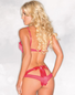 Risqu� Red Satin Bra & Panty Set