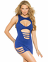 Royal Blue Beauty Sexy Mini Dress