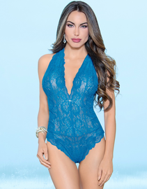 Royal Blue Love Affair Lace Teddy