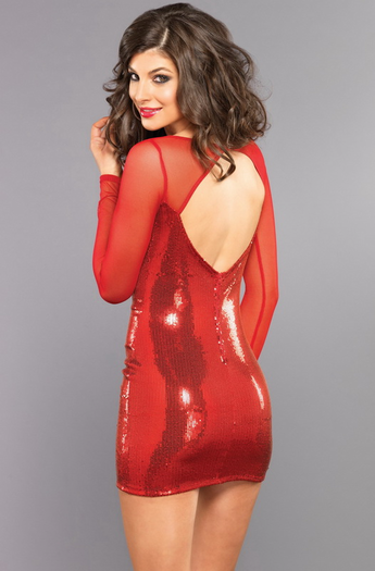 Ruby Beauty Sexy Sequin Mini Dress