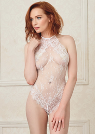 Same Old Love Lace Snap Crotch Teddy