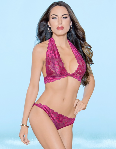Sangria Sunset Lace Bra & Panty Set