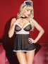Secret Maid Sheer Babydoll & G-String Set