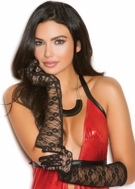 Sexy Elbow Length Lace Gloves