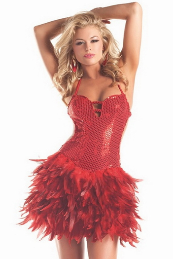 Sexy Exotic Feather Dress