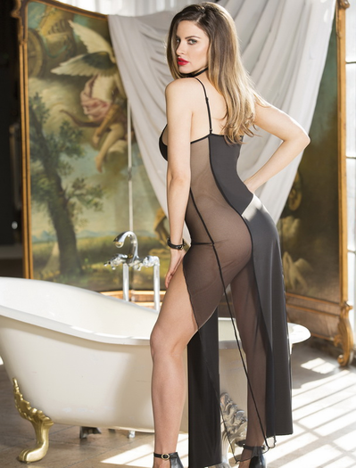 Sexy Night Sheer Gown