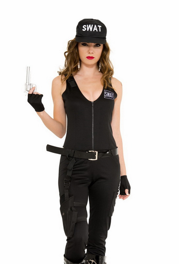 Police Costumes, Sexy Swat Costumes, Sexy Uniform Costumes -2789