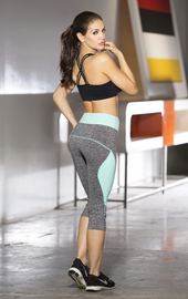 Sexy Two Tone Mint Work Out Pants