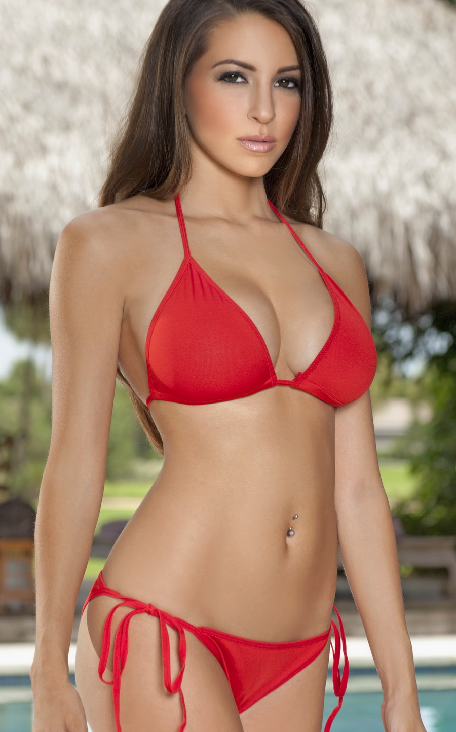 Red Bikini, Red Color Swimwear, Sexy Bikini in Red