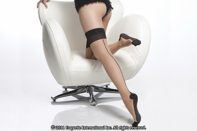 Sheer Contrast Cuban Heel Stockings