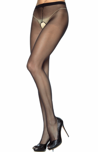 Sheer Crotchless Pantyhose