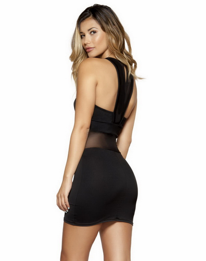 Sheerly Sexy Little Black Dress