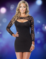 Show Me Love Black Lace Dress