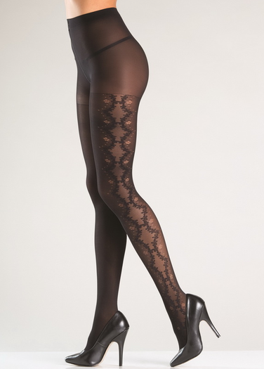 Side Stretch Design Pantyhose