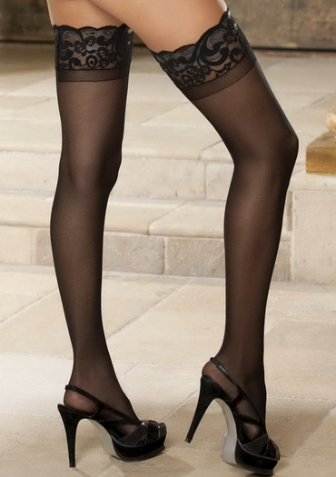 Silicone Lace Top Sheer Stockings