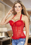 Simply Irresistible Red Lace Bustier