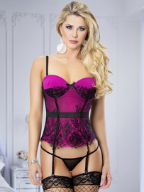 Simply Stunning Lace Bustier & Thong Set