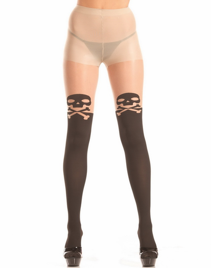 Skull & Cross Bones Pantyhose