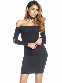 Slit It & Quit It Mini Dress