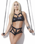 Smoky Seduction Wet Look Bra & Panty Set