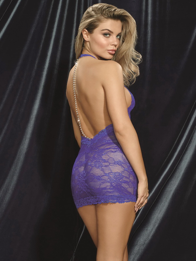 So Seductive Lace Chemise & G-String Set