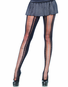 Spandex Seamless Crotchet Faux Lace Up Tights