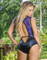 Spellbound Lace  & Wet Look Snap Crotch Teddy