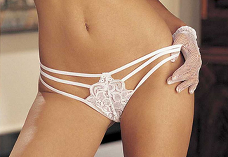 Stretch Lace Strappy Thong