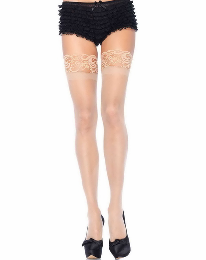 Silicone Top Stockings Lace Top Thigh High Stockings