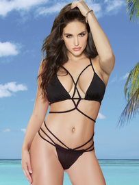 Strappy Seduction Bikini Top & Bottom Set