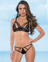 Strappy Seduction Lace Open Cup Bra & Thong Set