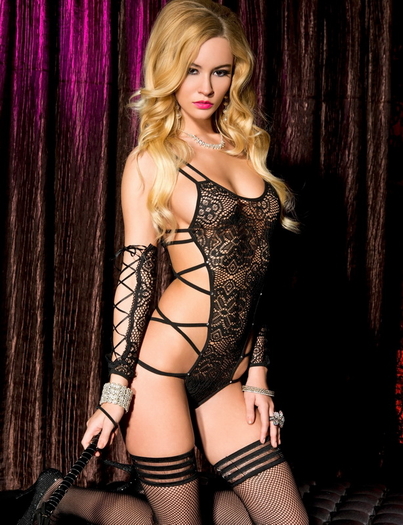 Strappy & Sexy Lace Teddy