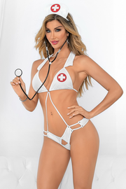 Strappy White Nurse Lingerie Costume