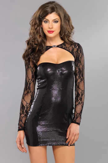 Studio 69 Sexy Sequin Mini Dress