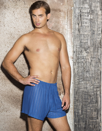Subtly Sheer Poly Stripe Men's Boxers