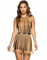 Suede Fringe Mini Dress