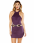 Suede Halter Neck Dress