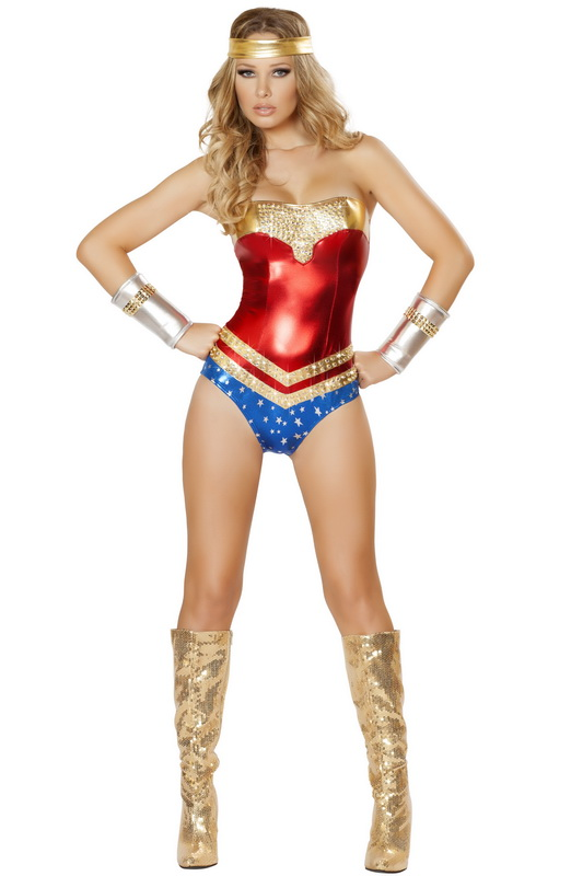 Deluxe wonder woman childrens costume-1662