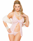 Sweetly Naughty Lace Babydoll & Thong Set