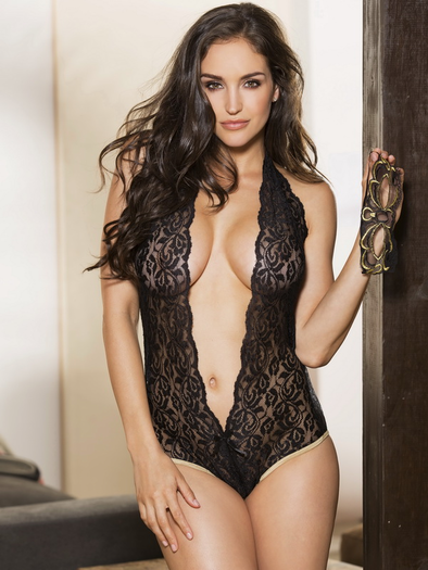 Tease Me Or Please Me Lace Teddy & Eye Mask Set