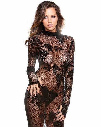 Tease Me Sexy Lace Gown & G-String Set