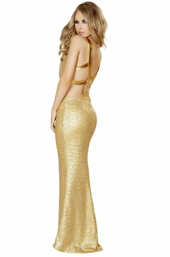 The Presidents Mistress Sexy Sequin Long Gown
