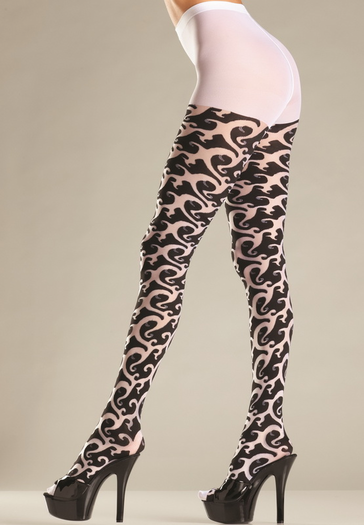 Tribal Print Pantyhose