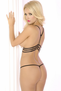 Triple Cage Black Open Bust Bra & Thong Set