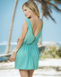 Truly A Tease Sexy Turquoise Dress