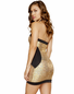 Two Tone Halter Neck Bodycon Dress