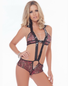 Vinyl & Lace Naughty Cutout Teddy